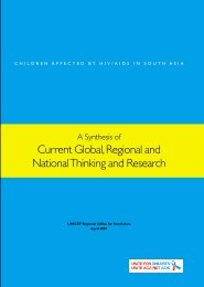 Current Global, Regional and National Thinking and ... - Unicef