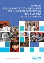 Mapping of social protection measures - Unicef