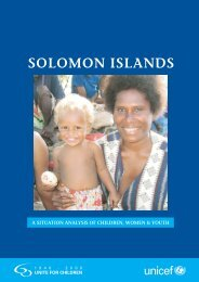 Solomon Island Sitan Report Body.pmd - Unicef