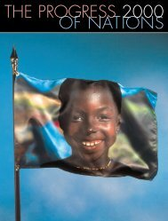 THE PROGRESS 2000 OF NATIONS - Unicef
