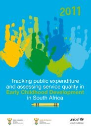 Tracking public expenditure and assessing service quality ... - Unicef