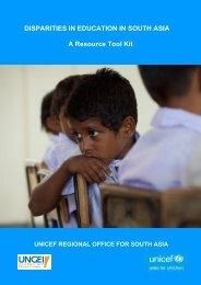 DISPARITIES IN EDUCATION IN SOUTH ASIA A Resource Tool Kit