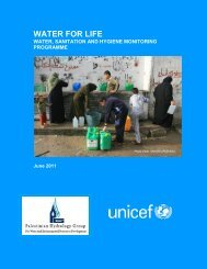 Water for Life, Sanitation and Hygiene Monitoring Programme - Unicef