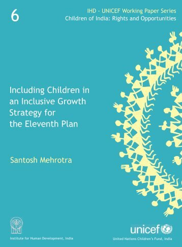 Including Children in an Inclusive Growth Strategy for the Eleventh ...