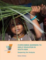 overcoming barriers to girls' education in south asia - Unicef