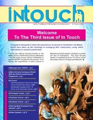 Welcome To The Third Issue of In Touch - Unicef