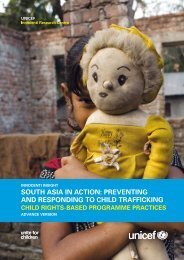 South Asia in Action: Preventing and Responding to Child ... - Unicef
