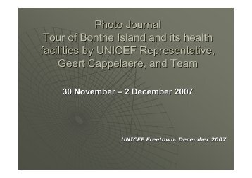 Photojournal - UNICEF Tour of Bronthe Island