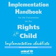 Implementation checklists - Unicef