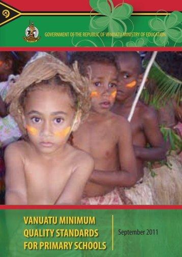 vanuatu minimum quality standards for primary schools - Unicef