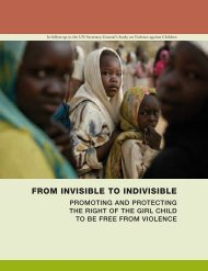 From Invisible to Indivisible - Promoting and Protecting the ... - Unicef