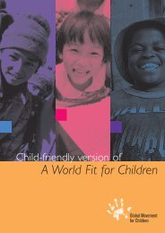 Child-Friendly version of 'A World Fit for Children' - Unicef
