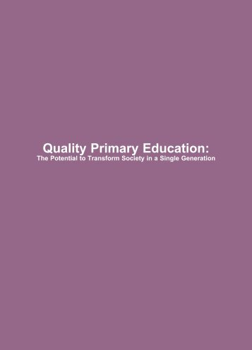 Quality Primary Education: - Unicef