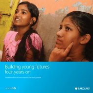 Building young futures four years on - Unicef UK