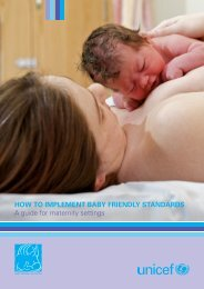 How to implement Baby Friendly standards – A guide for ... - Unicef UK