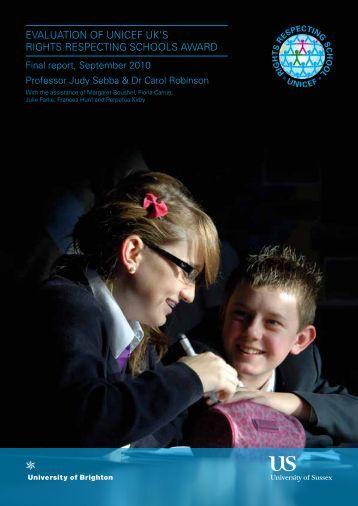 RRSA Evaluation: Final Report - Unicef UK