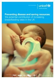 Preventing disease and saving resources: the potential ... - Unicef UK