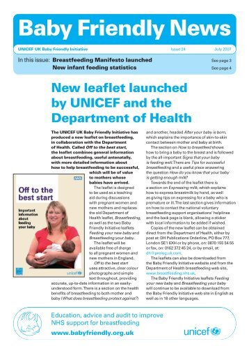 Baby Friendly News, Issue 24, July 2007 - Unicef UK