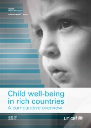 Child well-being in rich countries - Innocenti Research Centre