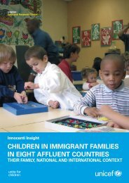 Children in Immigrant Families in Eight Affluent Countries - Unicef UK
