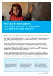 How do we secure a climate-resilient future for the ... - Unicef UK