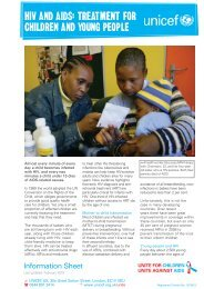 HIV and aIdS: TreaTmenT for cHIldren and young people - Unicef UK