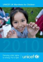 UNICEF UK Manifesto for Children