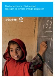 The benefits of a child-centred approach to climate ... - Unicef UK