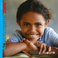 UNICEF UK Achievements 2009