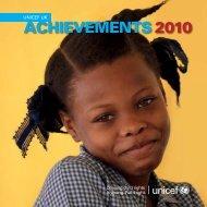 UNICEF UK Achievements 2010