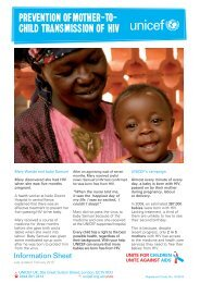 prevention oFmother-to- child transmission oF hiv - Unicef UK