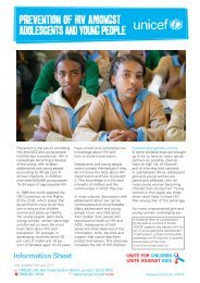 prevention of Hiv Amongst Adolescents And young people - Unicef UK