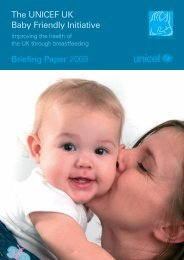 The UNICEF UK Baby Friendly Initiative Briefing Paper 2009