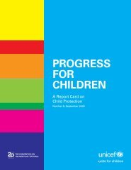 Progress for children: a report card on child protection - Unicef UK