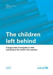 The children left behind - Innocenti Research Centre