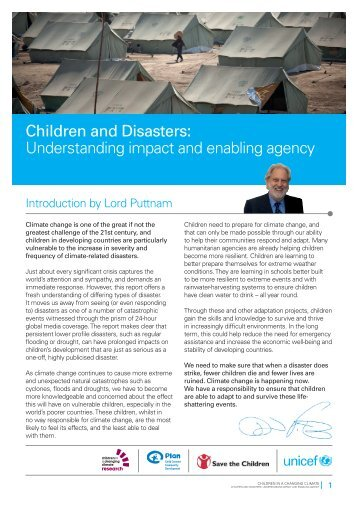Children and Disasters: understanding impact and ... - Unicef UK