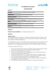 Reporting to: Digital Marketing M - Unicef UK