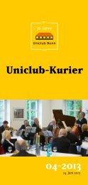 Uniclub-Kurier 2013-04 - Universitätsclub Bonn