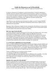 Guide des Ressources sur la Dyscalculie - INSERM-CEA Cognitive ...