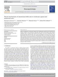 Neural mechanisms of attentional shifts due to irrelevant spatial and ...