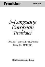5-Language European Translator - Franklin Electronic Publishers