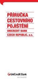 PŘÍRUČKA CESTOVNÍHO POJIŠTĚNÍ - Unicredit Bank
