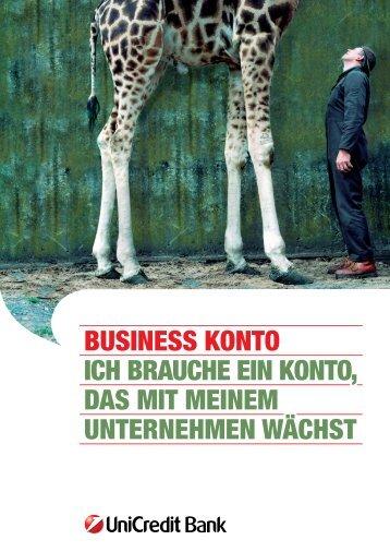 business konto ich brauche ein konto, das mit ... - Unicredit Bank