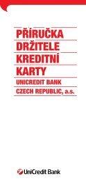 PŘÍRUČKA DRŽITELE KREDITNÍ KARTY - Unicredit Bank