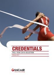 CREDENTIALS - UniCredit Group