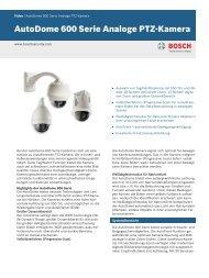 AutoDome 600 Serie Analoge PTZ-Kamera - Bosch Security Systems