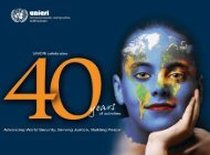 UNICRI Brochure 40 years
