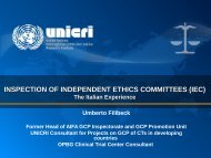 INSPECTION OF INDEPENDENT ETHICS COMMITTEES ... - UNICRI