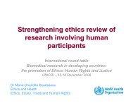 Marie-Charlotte Bouessëau, Team Leader, Ethics and ... - UNICRI