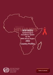 HIV/AIDS Epidemiological Surveillance Update for the WHO African ...